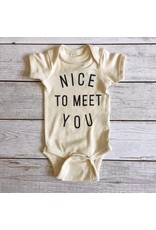 The Oyster's Pearl Gladfolk | Nice To Meet You Onesie