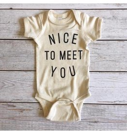 The Oyster's Pearl The Oyster's Pearl | Nice To Meet You Onesie