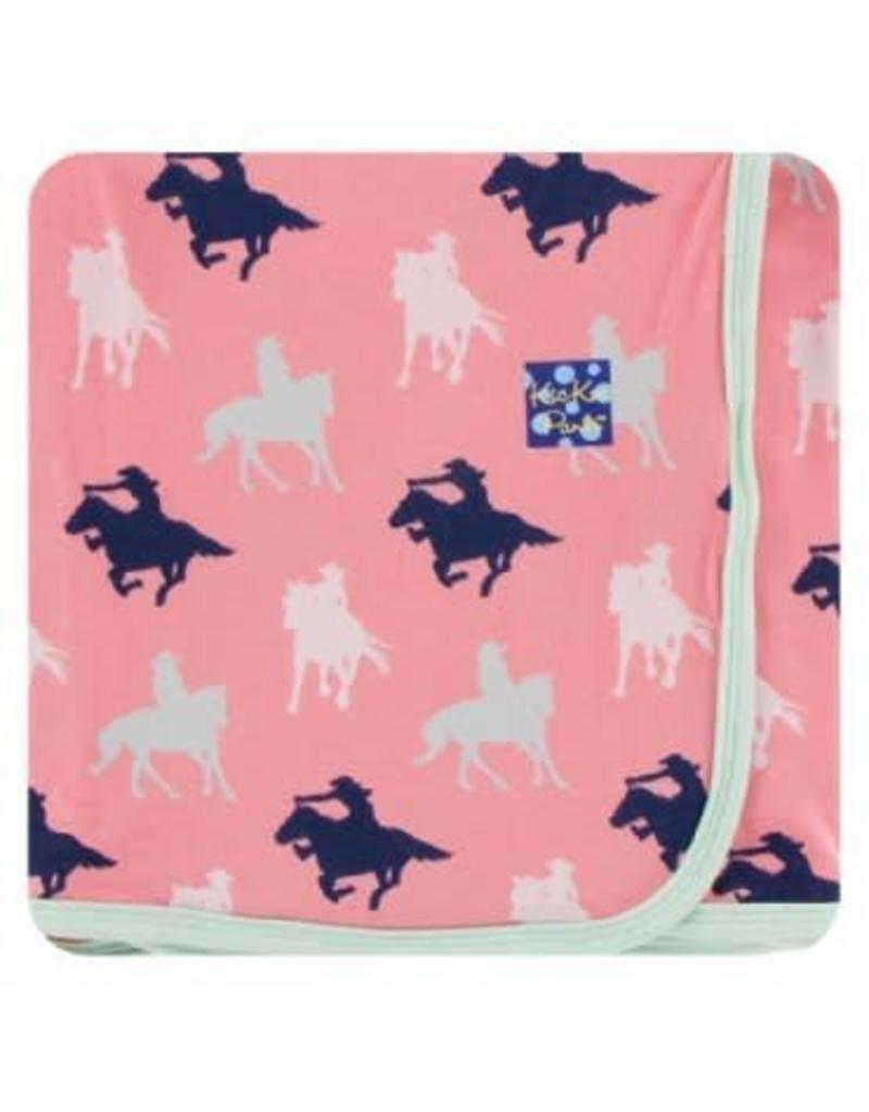 Kickee Pants Kickee Pants Swaddling Blanket, Strawberry Cowgirl