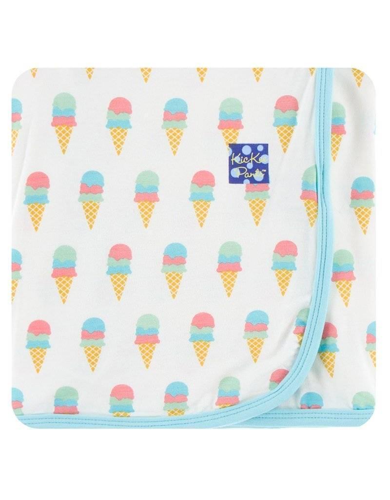 Kickee Pants Kickee Pants|Swaddling Blanket, Natural Ice Cream