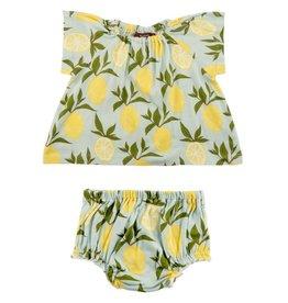 Milkbarn Kids Milkbarn |  Lemons Dress & Bloomer Set (Organic)