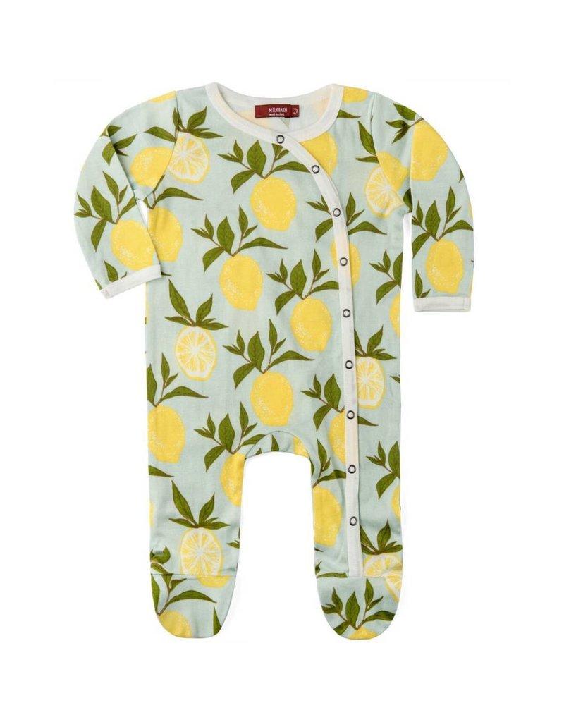 Milkbarn Kids Milkbarn |  Lemons Footed Romper (Organic)