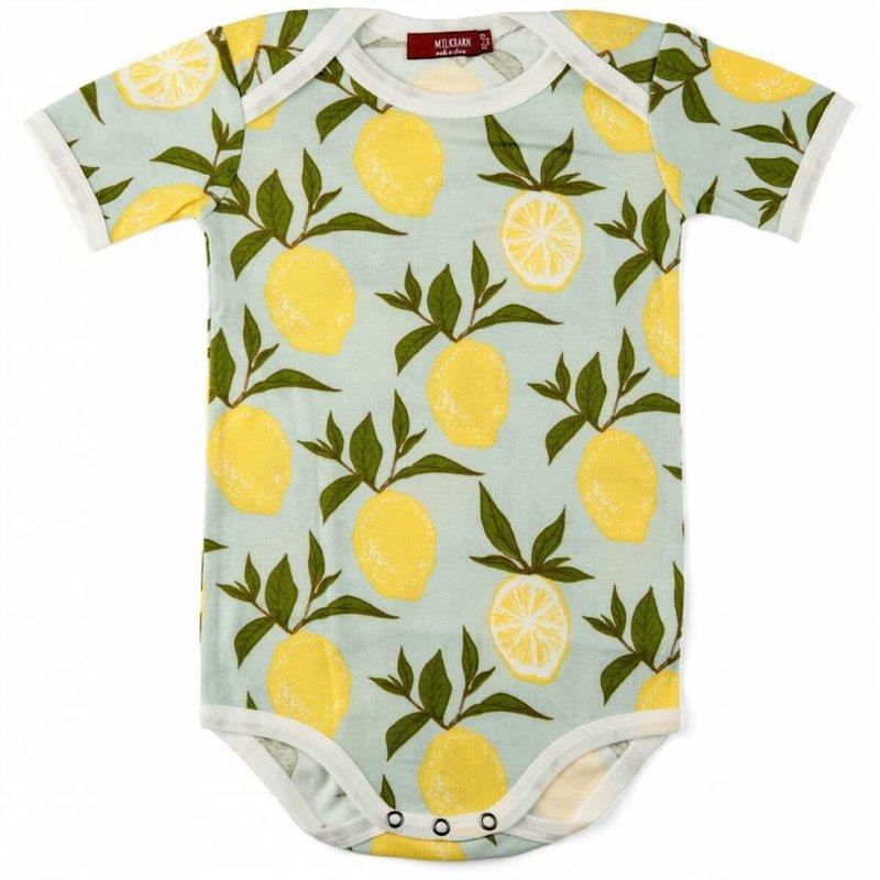 Milkbarn   Lemon Bodysuit (Organic)