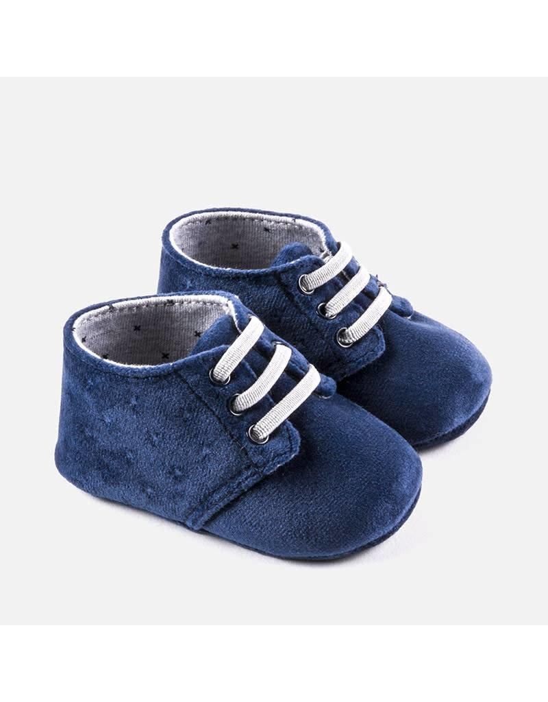 Mayoral Mayoral |Velvet Lace Up Bootie in Navy