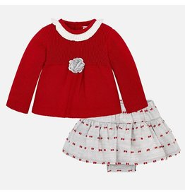 Mayoral Mayoral | Skirt & Sweater Baby Set