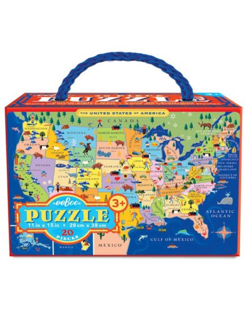 eeBoo Eeboo   United States 20 Piece Puzzle