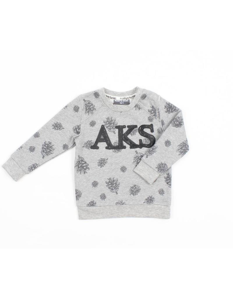 Romy & Aksel   Pinecone Print Baby Sweatshirt