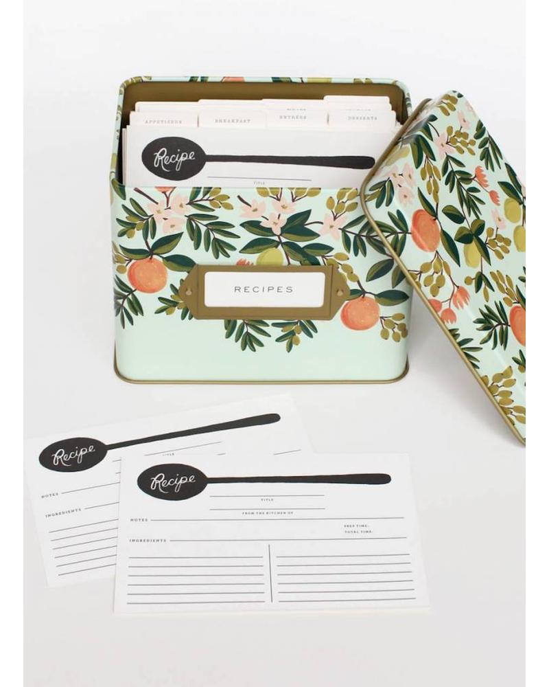 Rifle Citrus Floral Tin Recipe Box