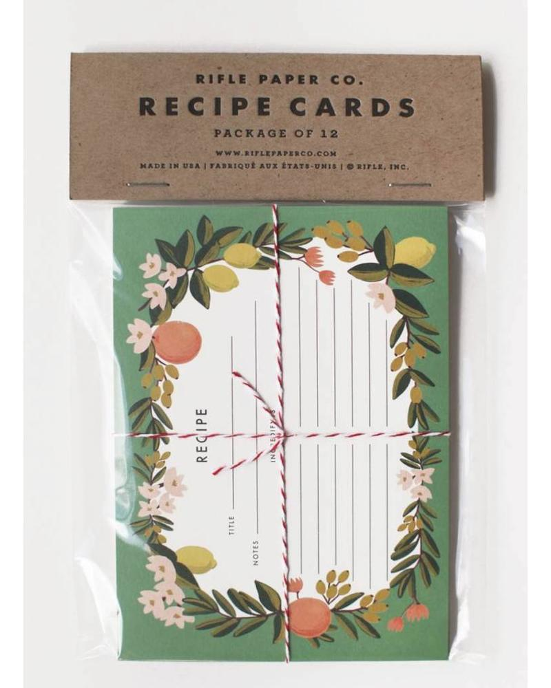 Rifle Pack of 12 Citrus Floral Recipe Cards