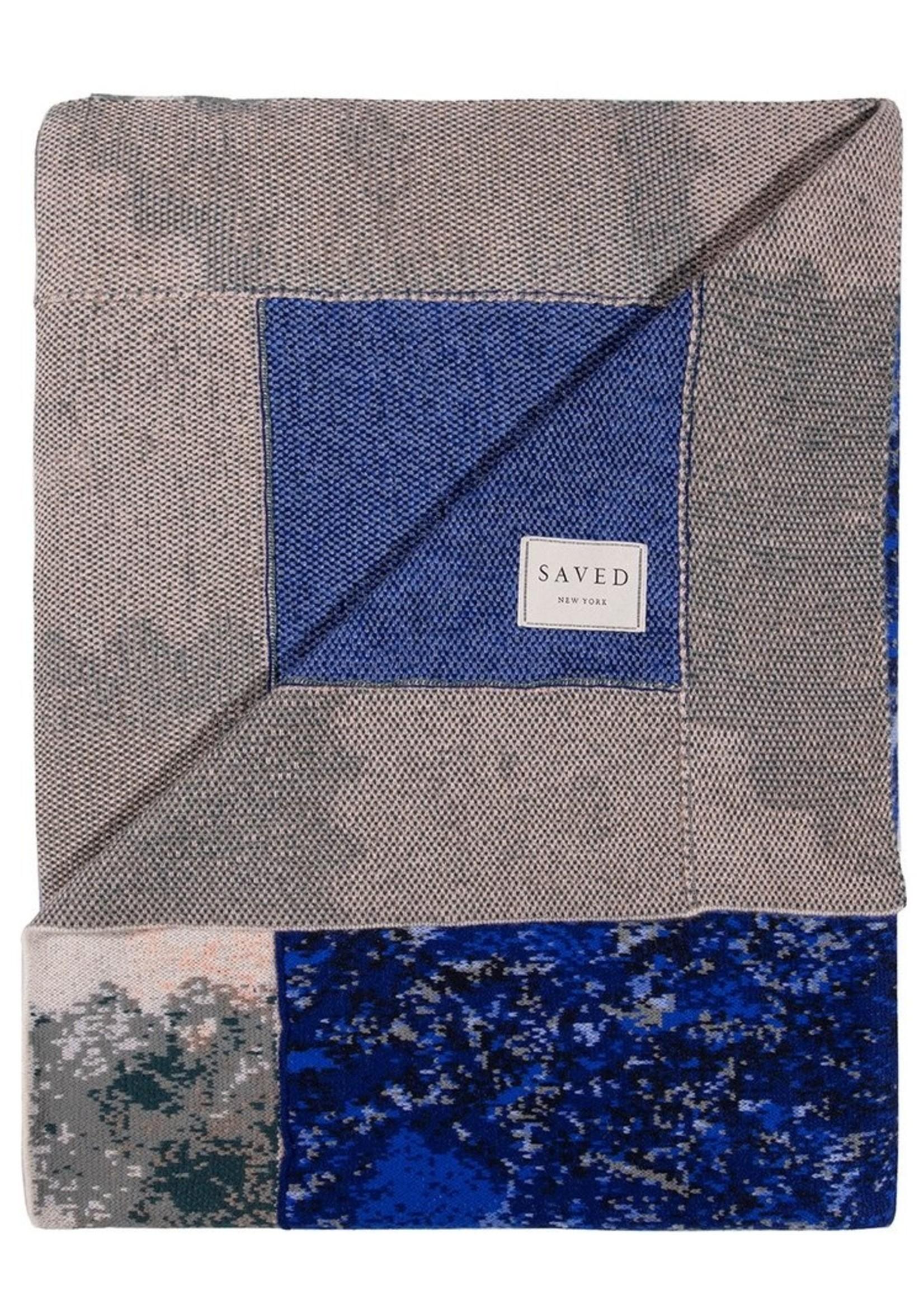 SAVED New York SAVED New York Cashmere Lapis Lazuli Throw