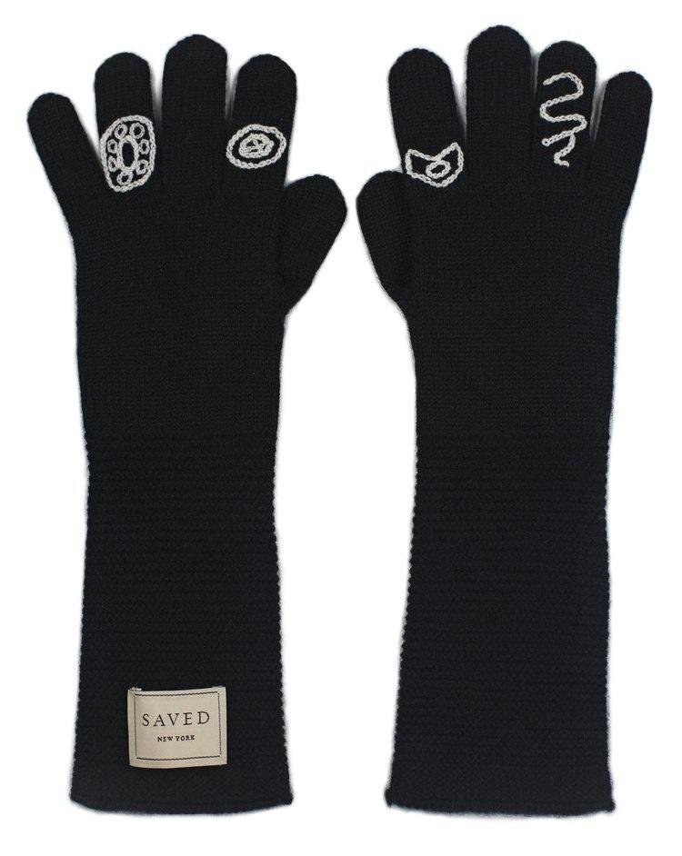 Saved NY Cashmere Opera Gloves-1