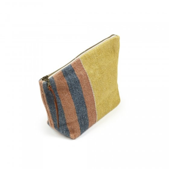 Red Earth Stripe Pouch-1