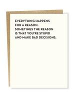 Sapling Press Bad Decisions Card