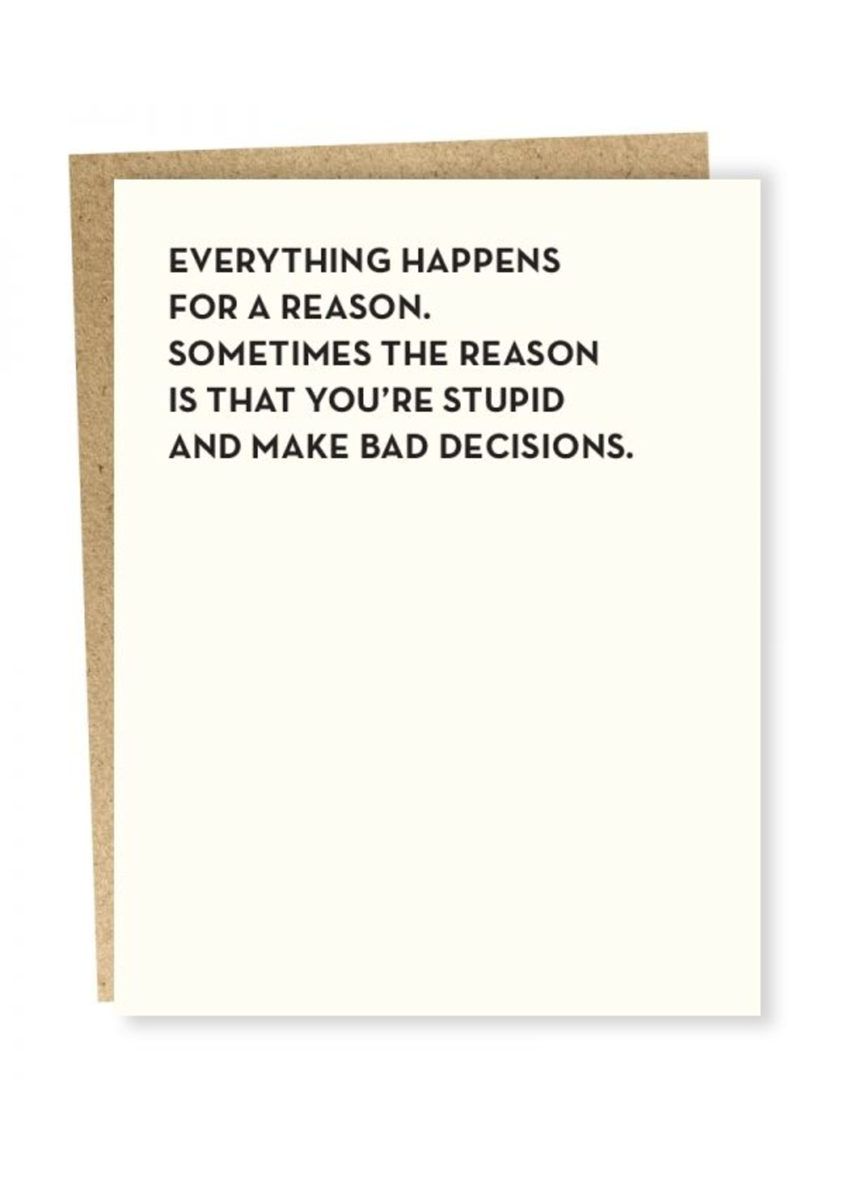Sapling Press Sapling Card Bad Decisions Card