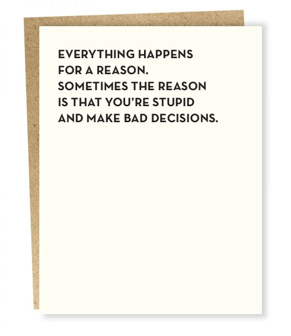 Sapling Card Bad Decisions Card-1