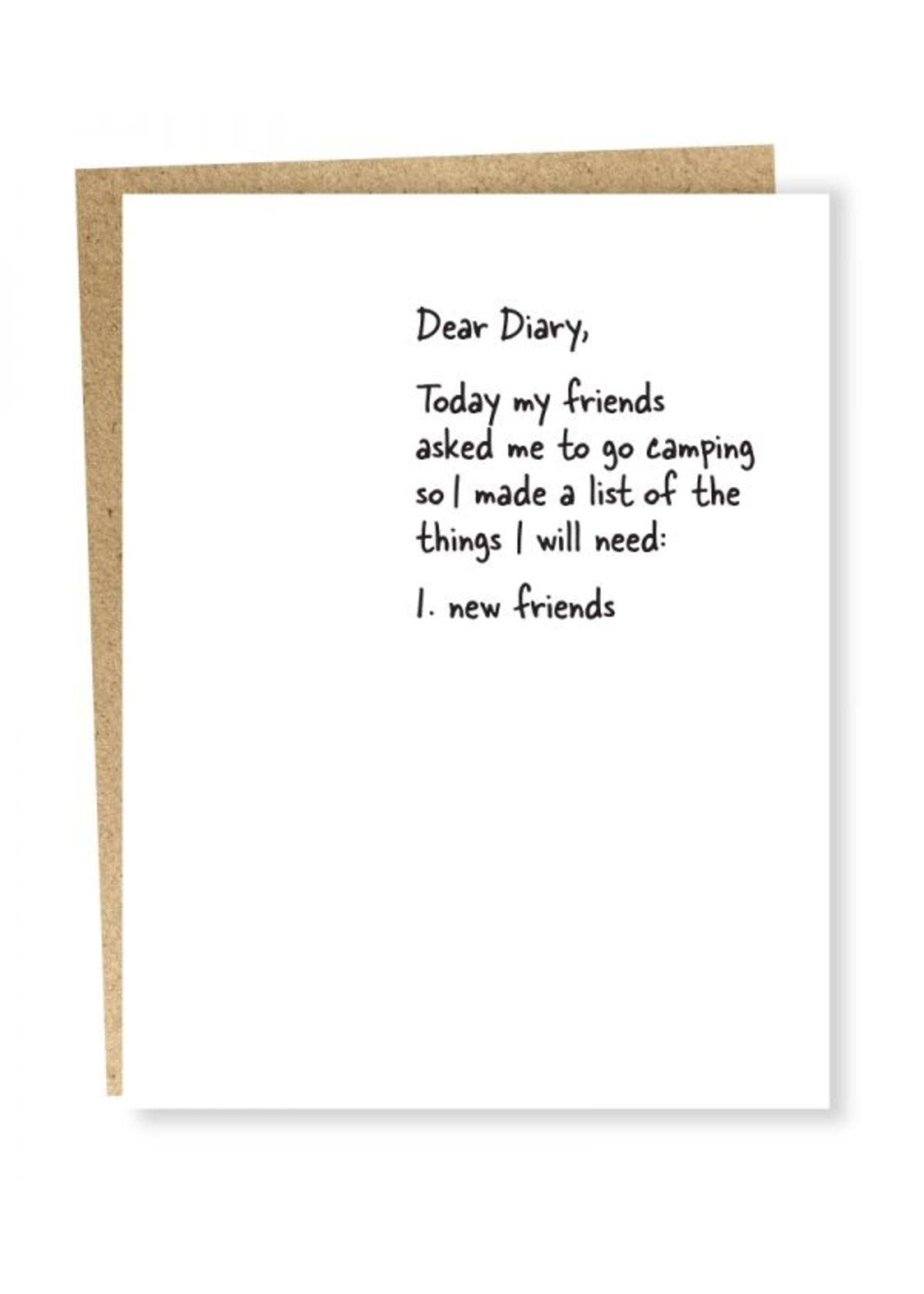 Sapling Press Sapling Card New Friends