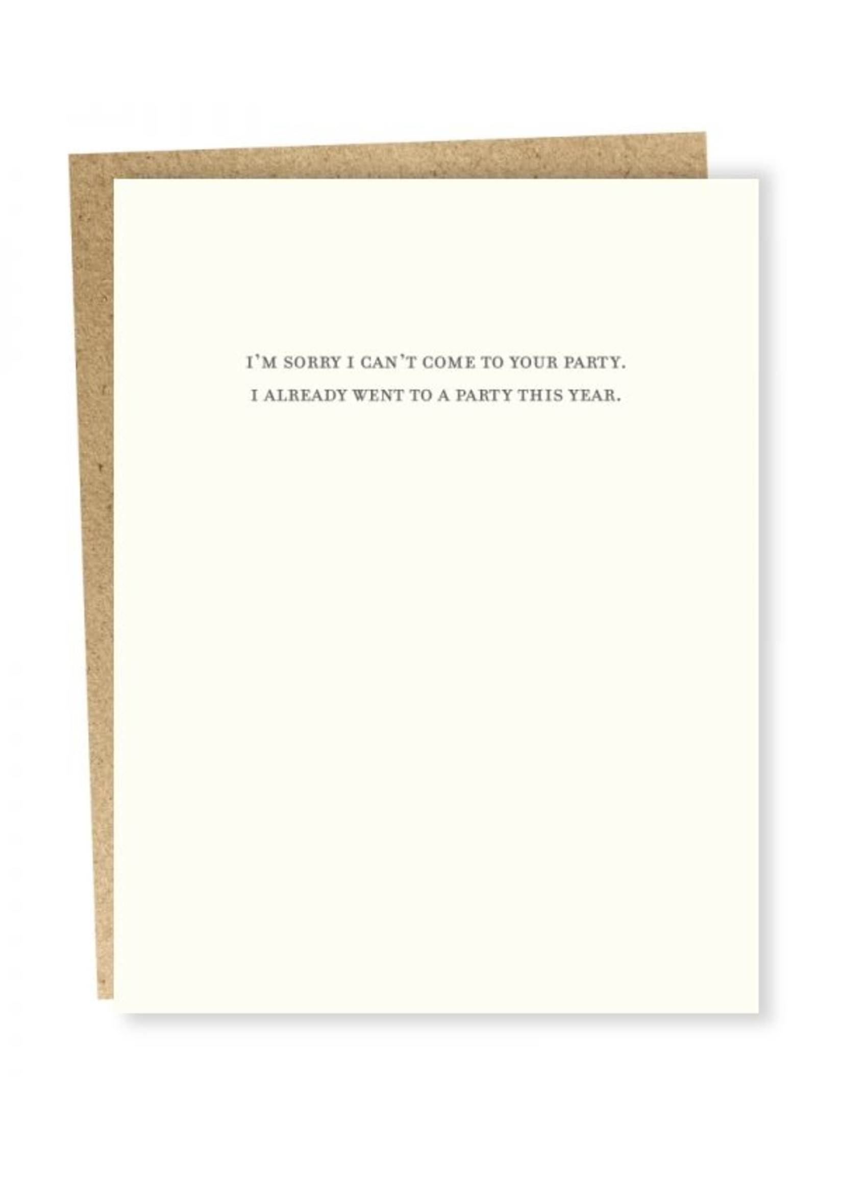 Sapling Press Sapling Card Confessions: Party