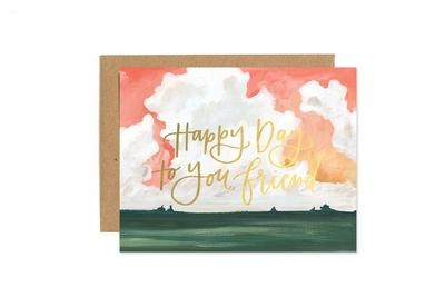 One Canoe 2 Greeting Card Happy Day Landscape-1