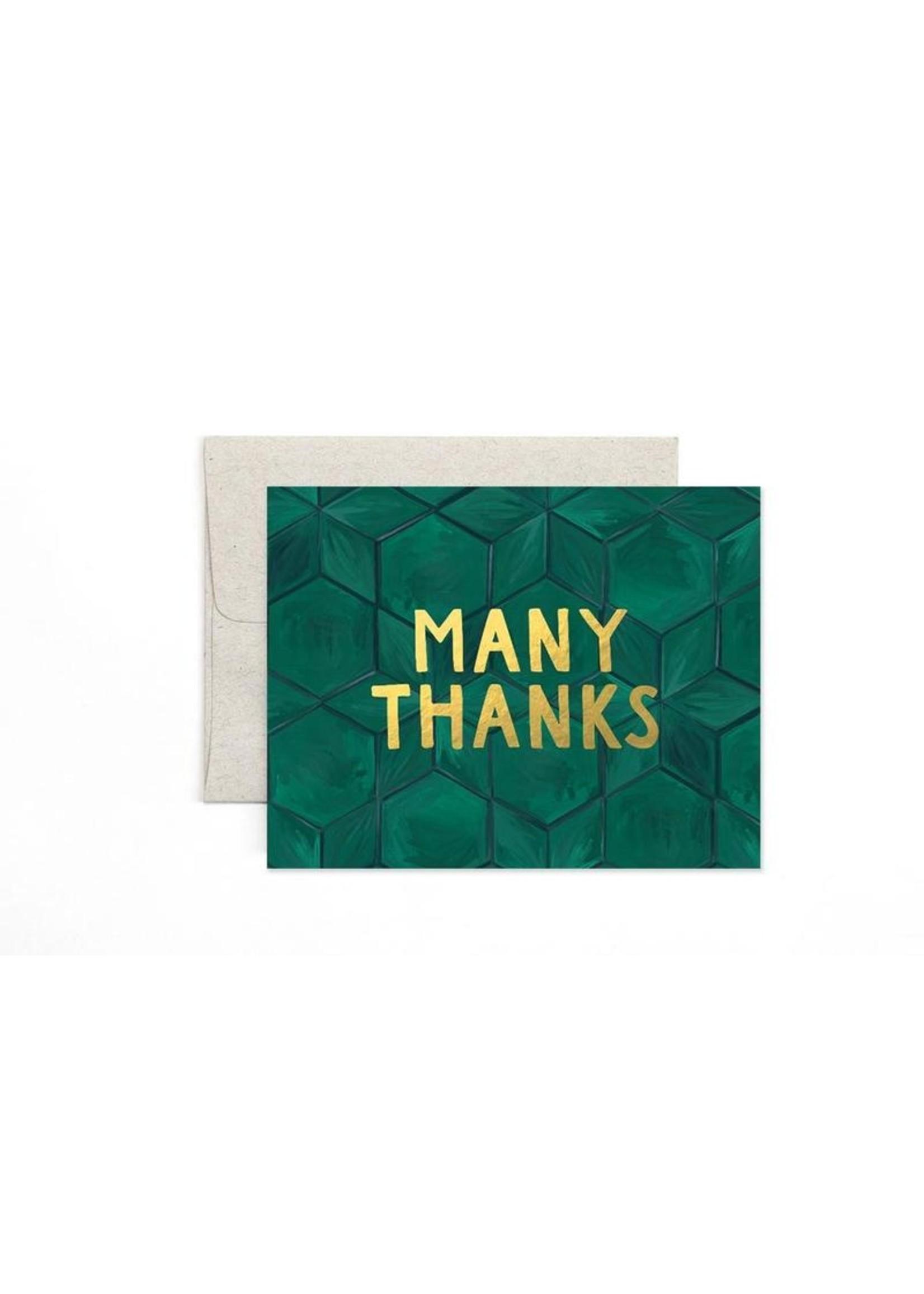 1 Canoe 2 Card Green Tile Thanks