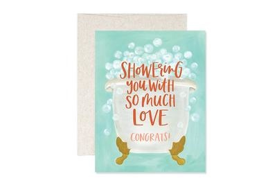 One Canoe 2 Greeting Card Shower Congrats-1