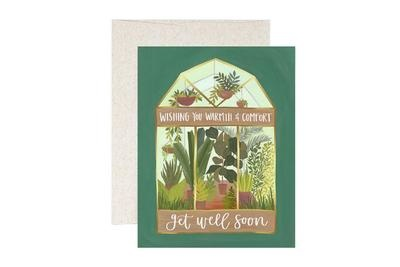 One Canoe 2 Greeting Card Get Well Greenhouse-1