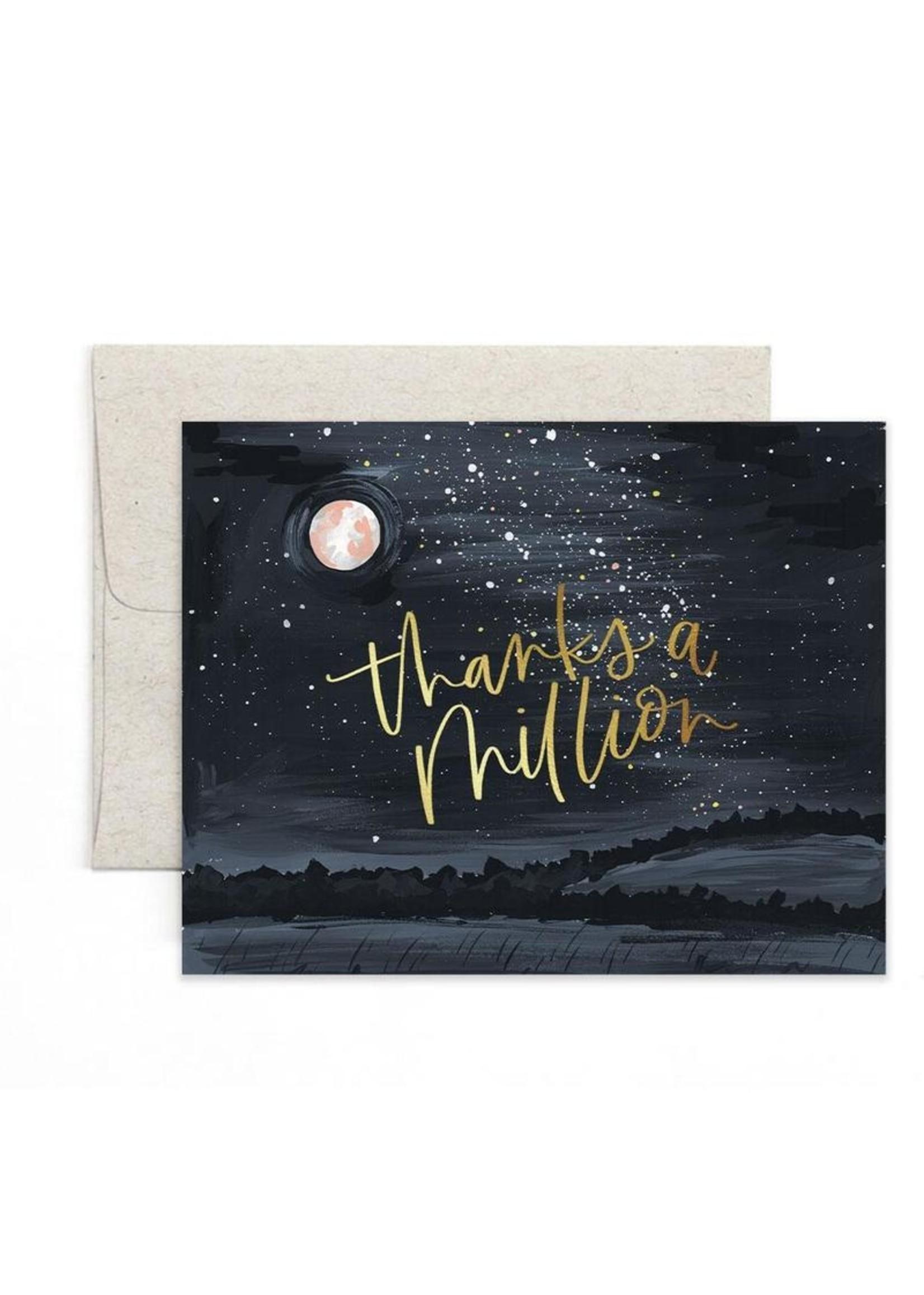 1 Canoe 2 Card Thanks Starry Night