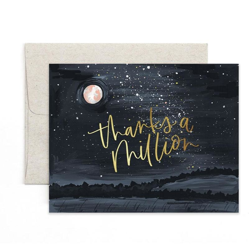 1 Canoe 2 Greeting Card Thanks Starry Night-1