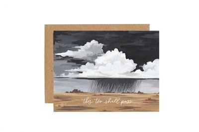 One Canoe 2 Greeting Card Storm Sympathy-1