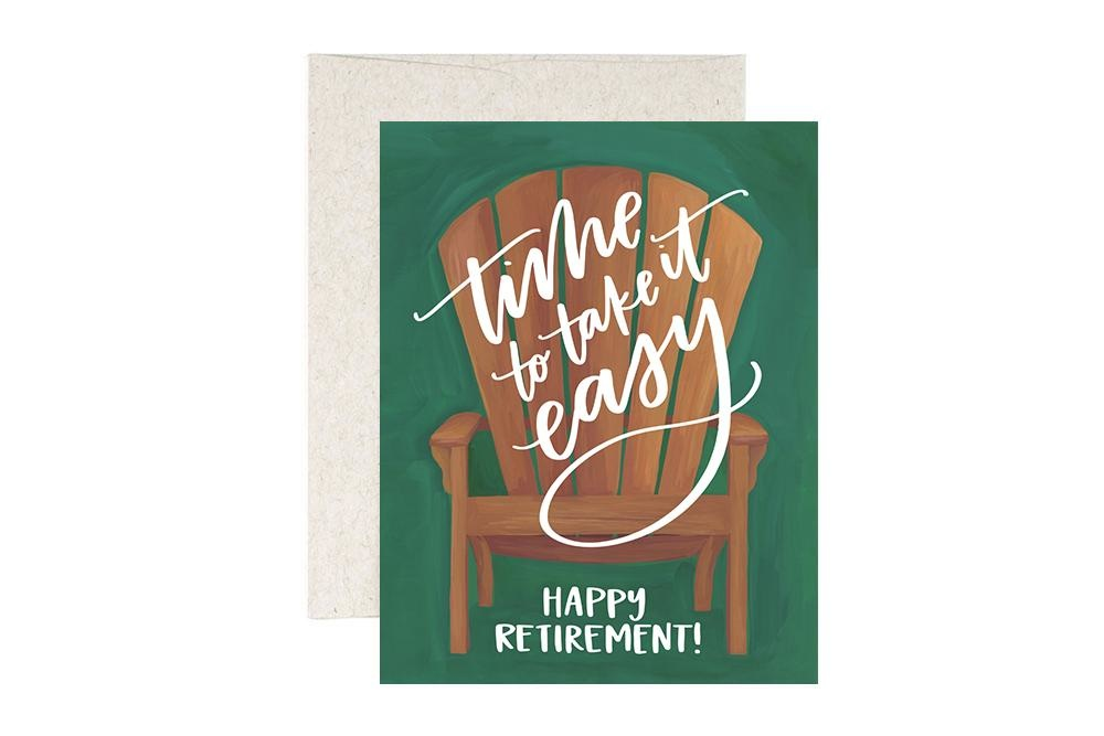 One Canoe 2 Greeting Card Retirement Chair-1