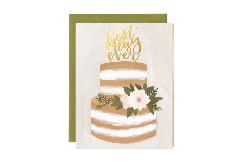One Canoe 2 Greeting Card Wedding Best Day Ever-1