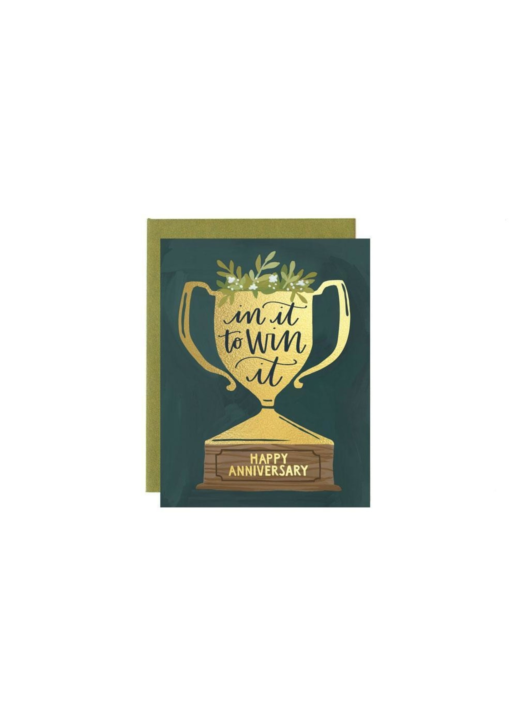 1 Canoe 2 Card Anniversary Trophy