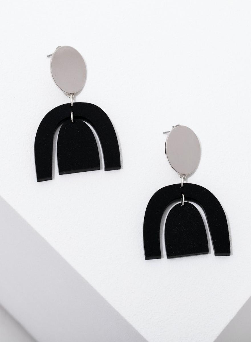 Brandt Silver Earrings-1