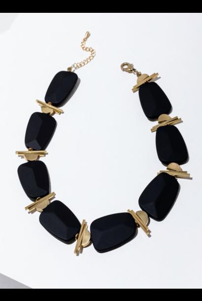 Palais Black Necklace