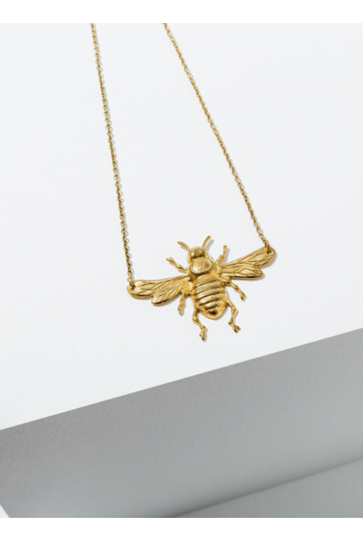 Bee Brass Necklace