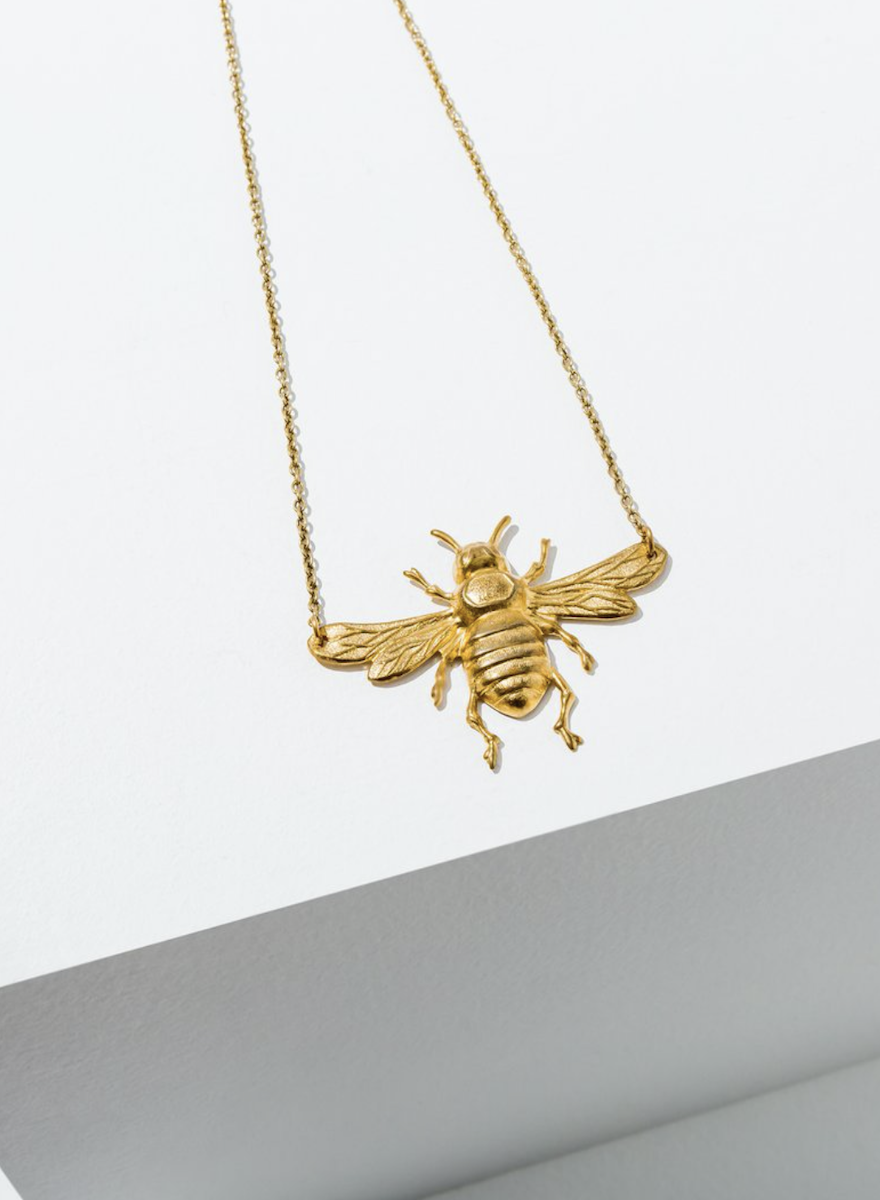 Bee Brass Necklace-1