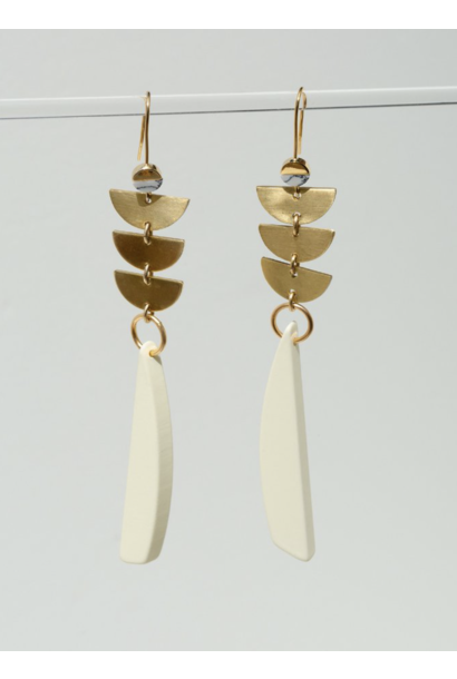 Sylvia Cream Earrings