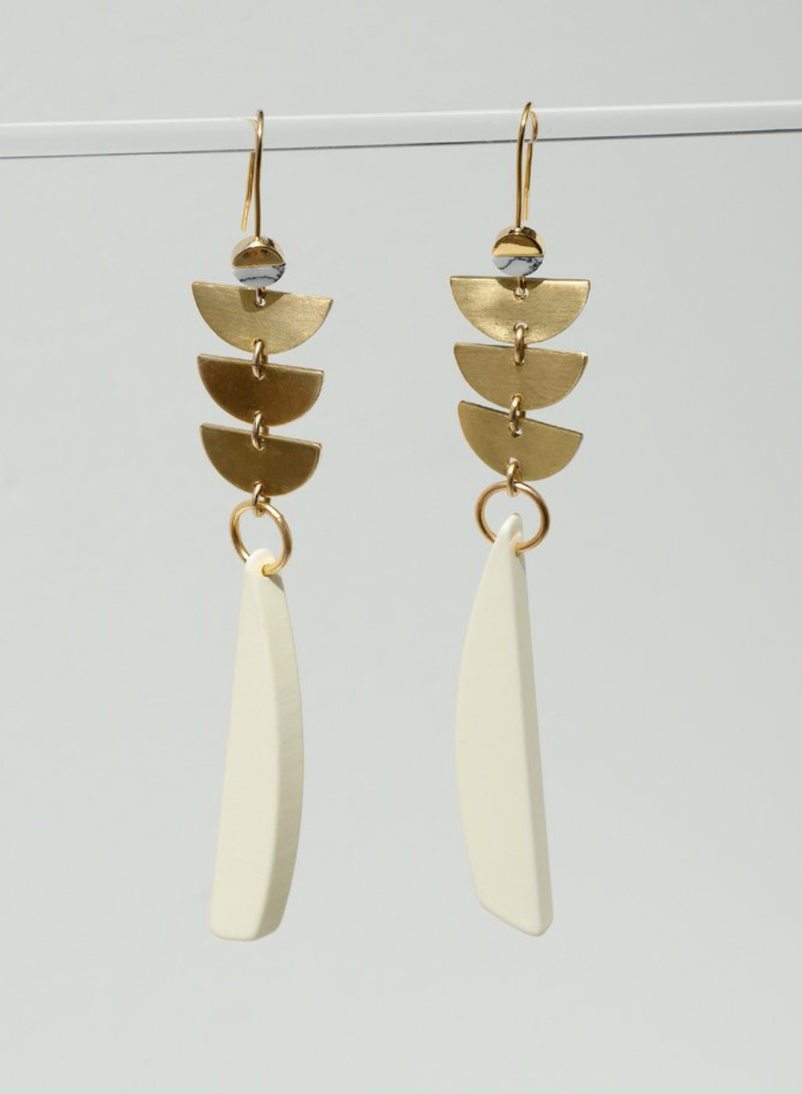 Sylvia Cream Earrings-1