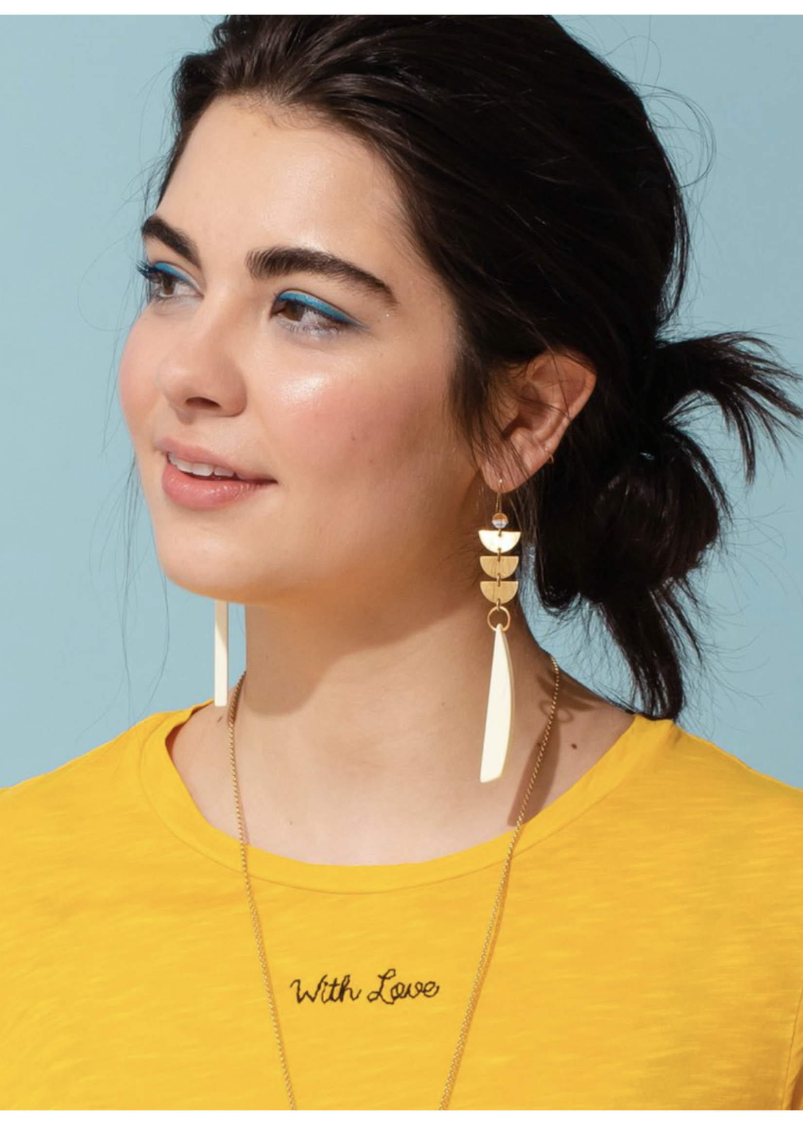 Larissa Loden Sylvia Cream Earrings