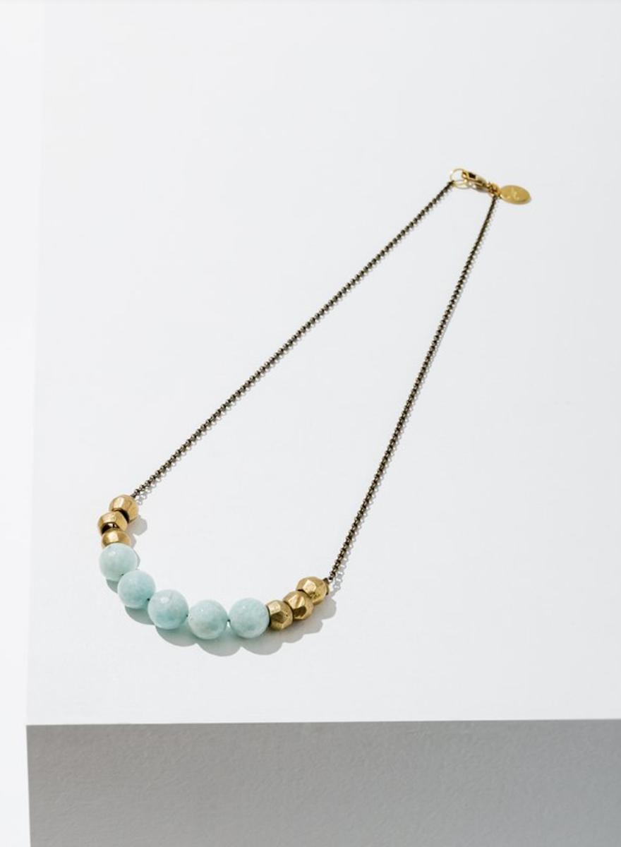 Mint Julep Amazonite Necklace-1