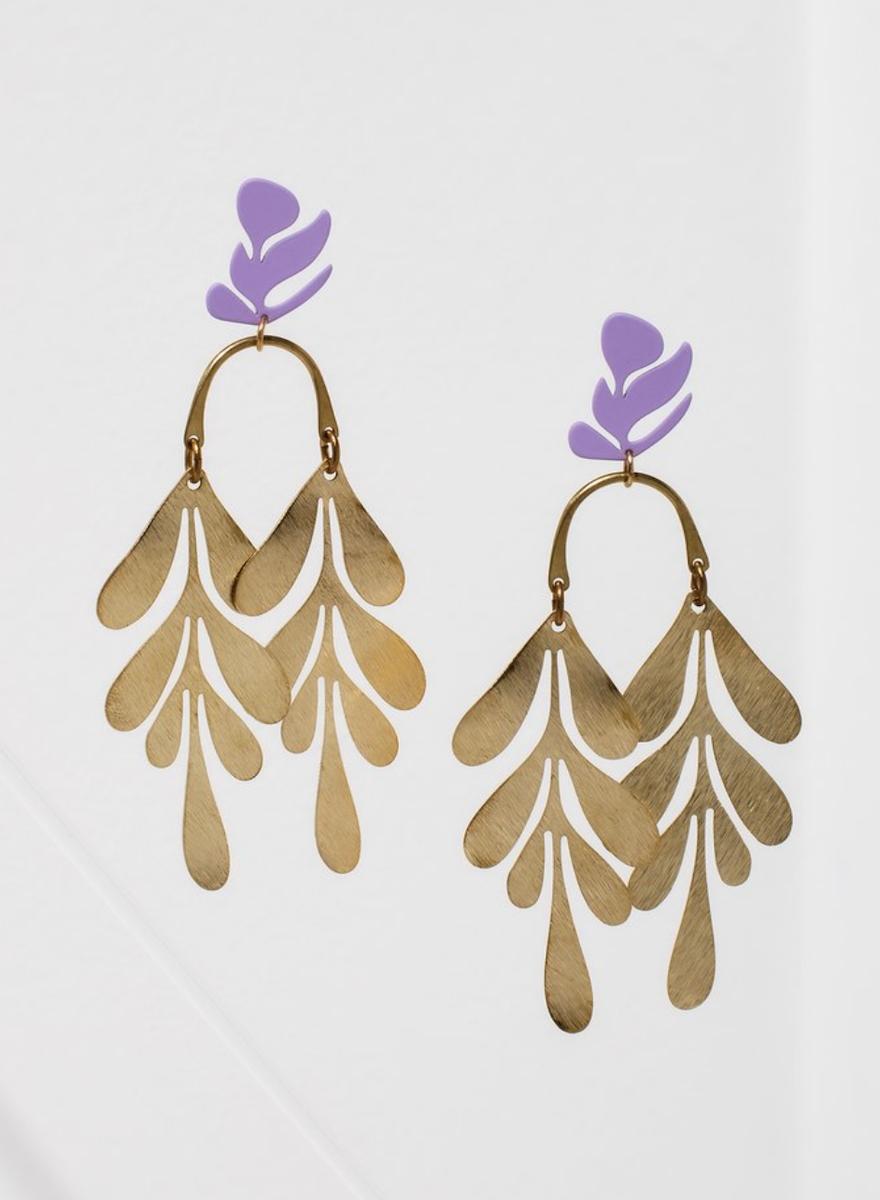 Soirée Purple Earrings-1