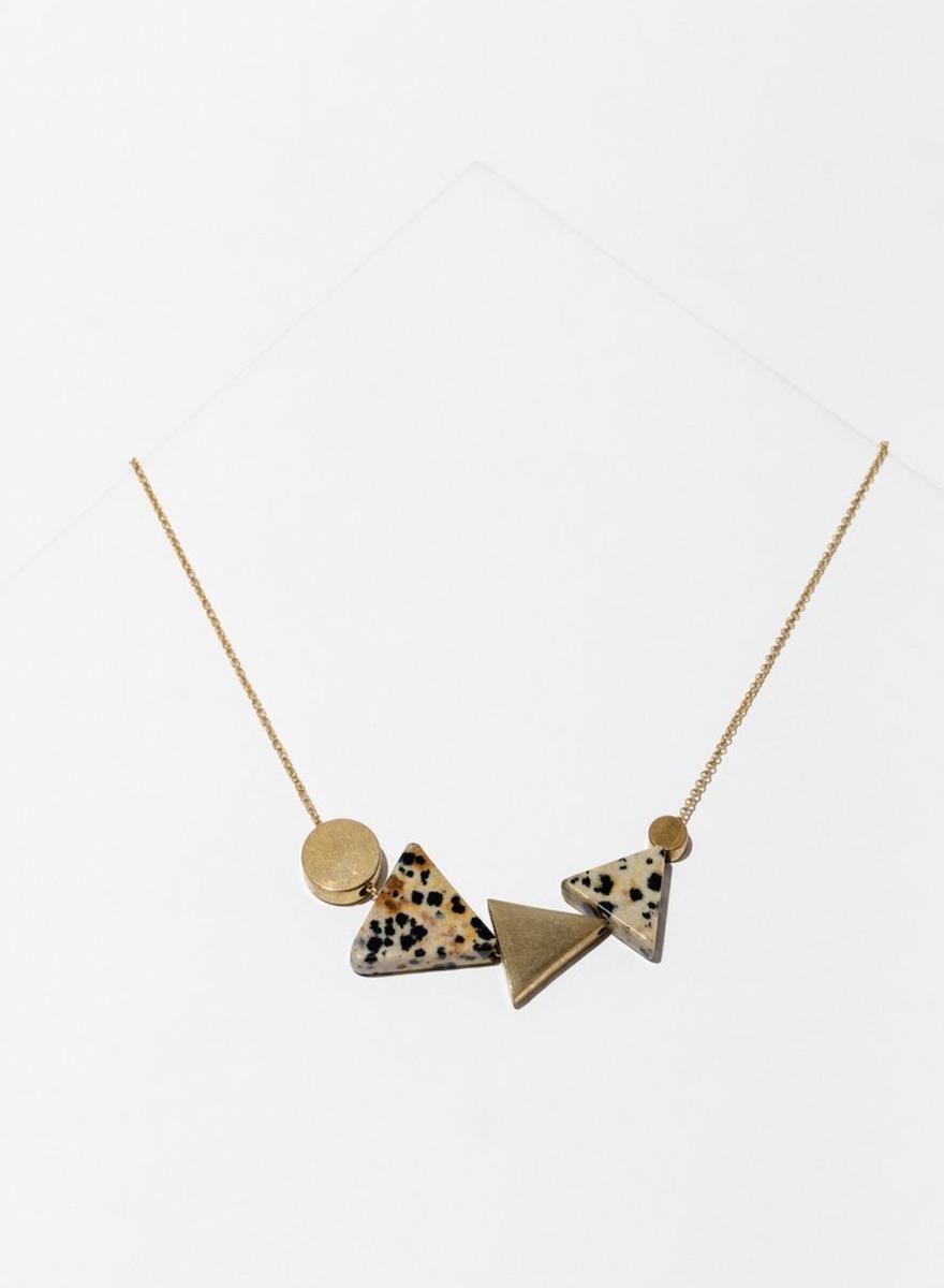 Klee Dalmatian Jasper Necklace-1