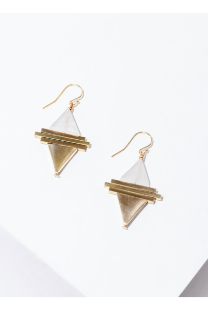 Protos Clear Quartz Earrings