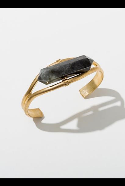 Crystal Cuff Labradorite Bracelet
