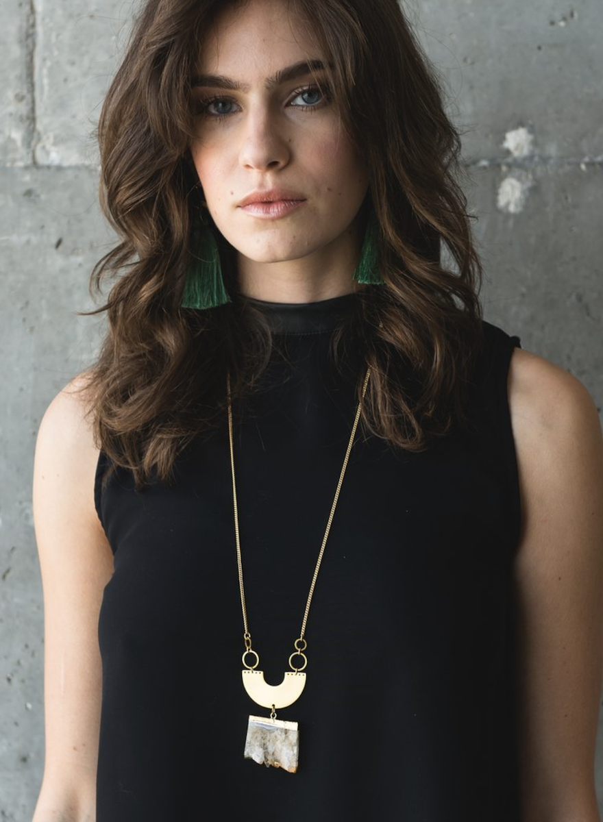 Golden Halo Necklace-2