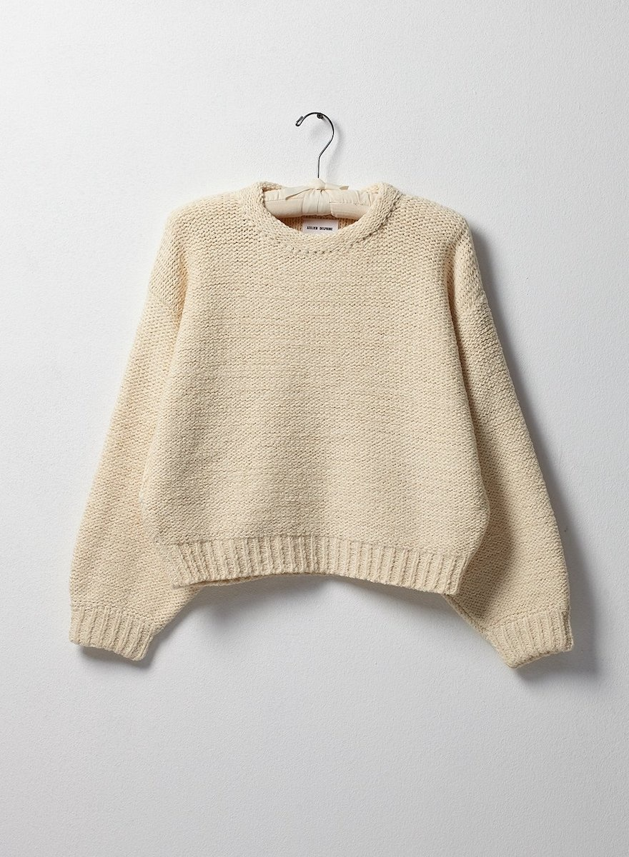 Cotton Balloon Sleeve Sweater-3