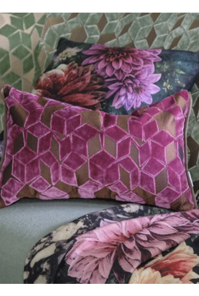 Fitzrovia Damson Pink Pillow