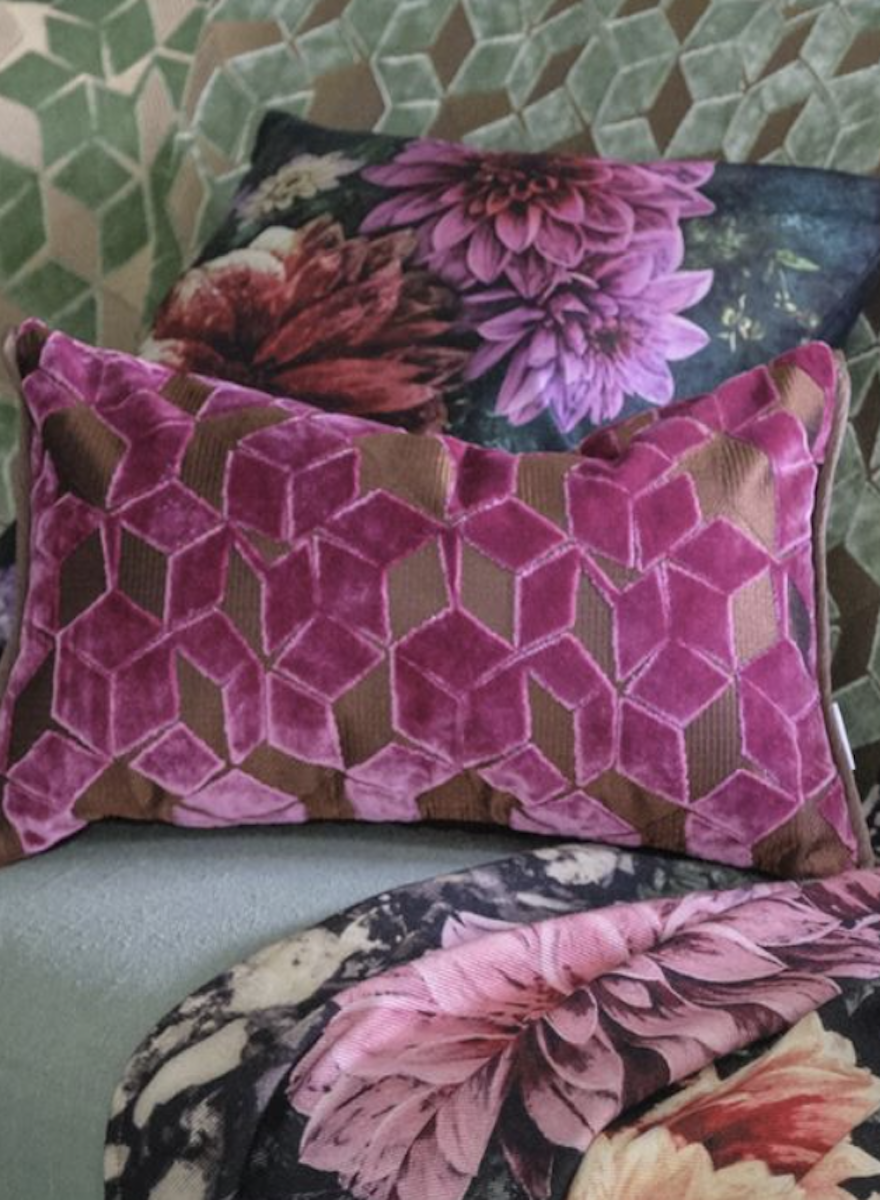 Fitzrovia Damson Pillow-1
