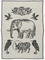 SAVED New York Cashmere Elephant & Friends Throw