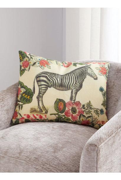 Zebras Sepia Pillow