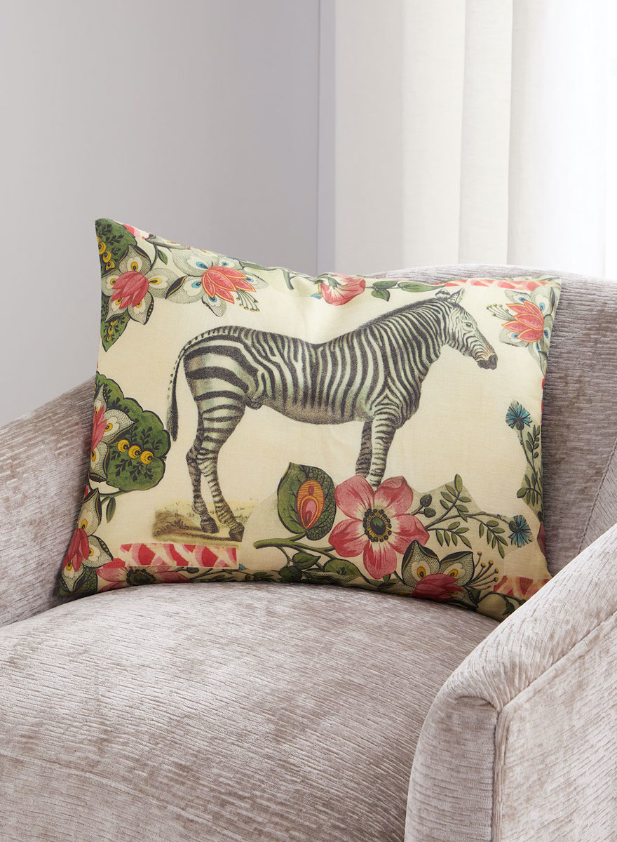 Zebras Sepia Pillow-1